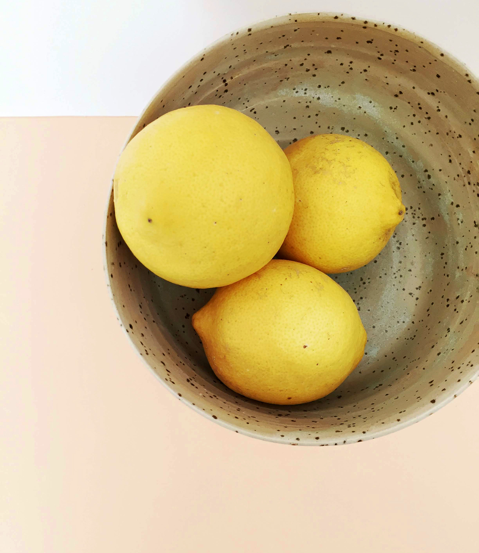 frutero ceramica moteada