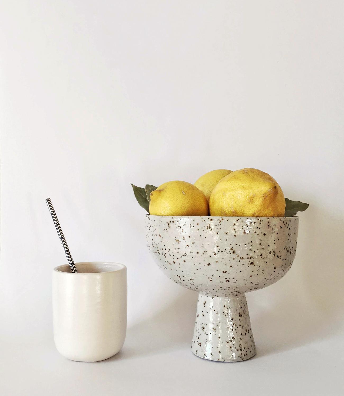 frutero moteado ceramica