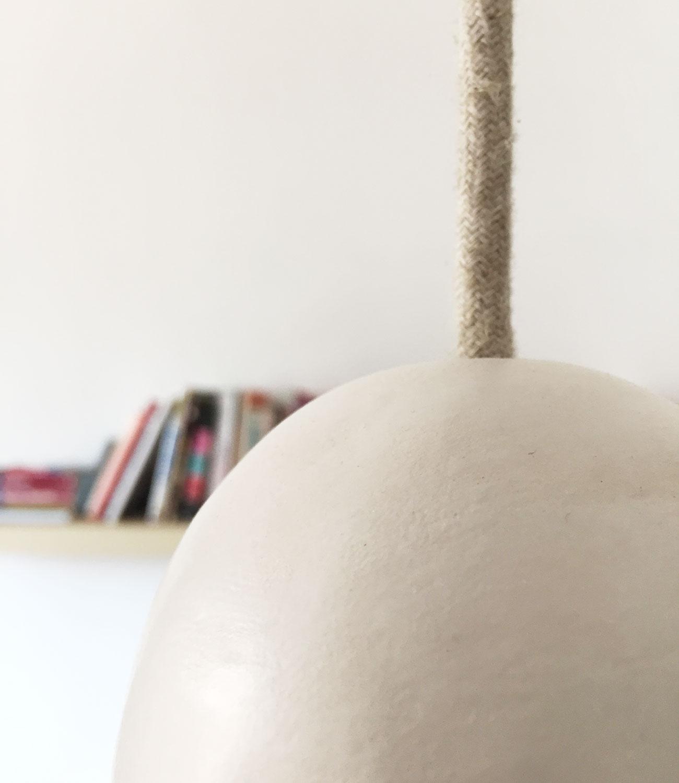 detalle lampara ceramica