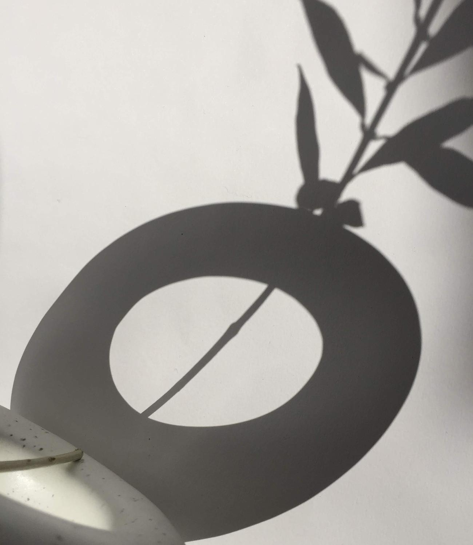 sombra jarron minimalista